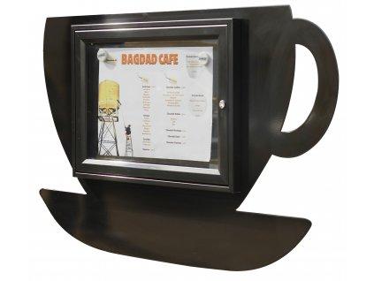 Menu vitrína Café