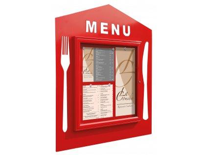Menu vitrína - čtvercové menu
