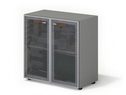 Skříň Wels, skleněné dveře – 79,8×42,5×80 cm