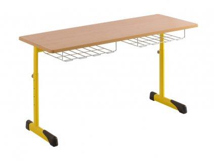 Školní lavice dvoumístná DL 41V