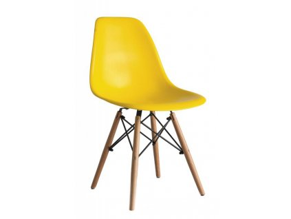 Jídelní židle Enzo - žlutá