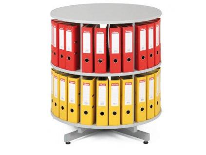 Archivační skříň otočná - 2 patra -  šedá