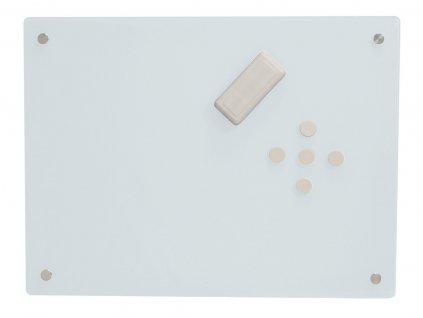 Skleněná tabule Glass2Write, magnetická - bílá