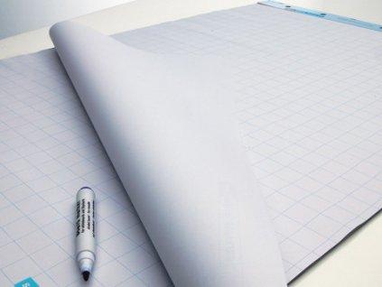 Flipchartový blok, čistý/mřížkovaný, 100 listů
