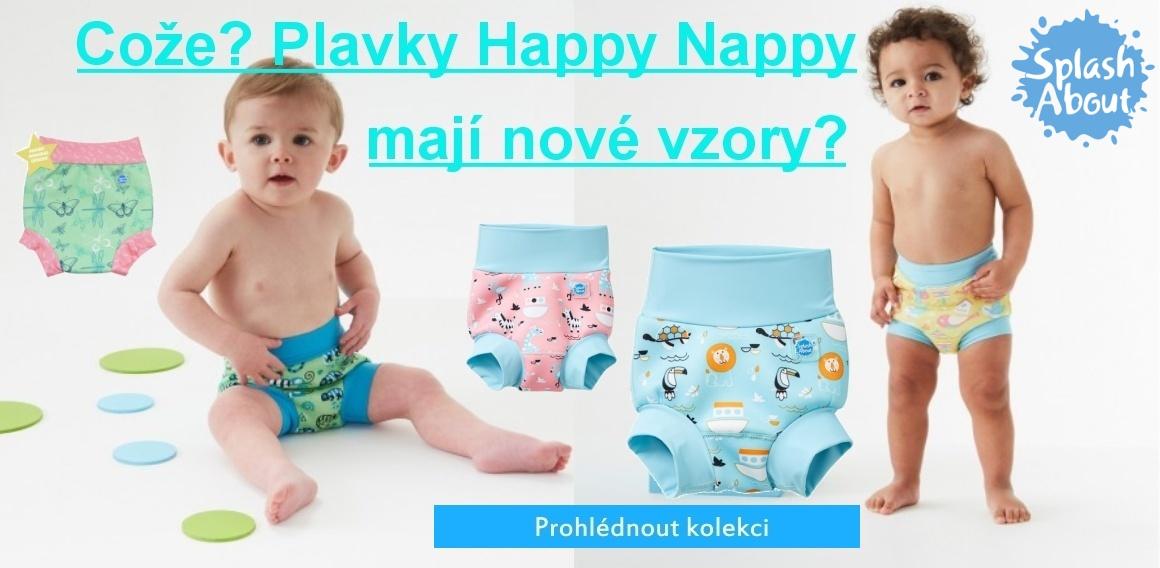 Plavky Happy Nappy - nové vzory
