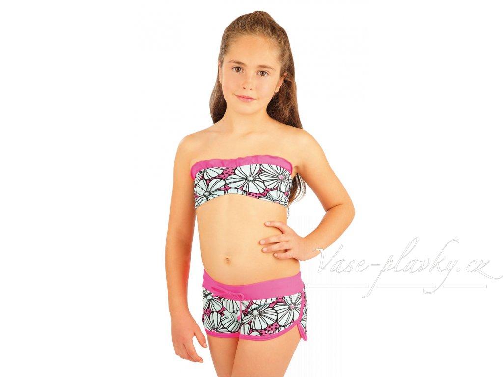 Dívčí plavková podprsenka Bandeau - dvoudílné dívčí plavky 6c2b00ee03