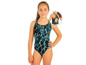 Divci jednodilne sportovni plavky litex 93595