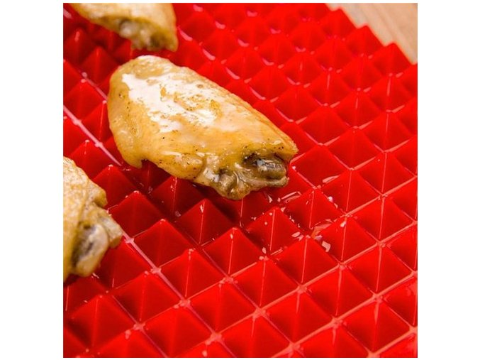 pyramid pan silicone baking mat 500x500 pecici podlozka pyramid pan zdrave jidlo peceni vareni pecici papir bez tuku do trouby mikrovlnky mikrovlnne trouby do mycky myti v mycce snadne rychle a levne