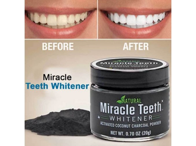 Miracle Teeth Whitener Natural Coconut Charcoal Based 600x600