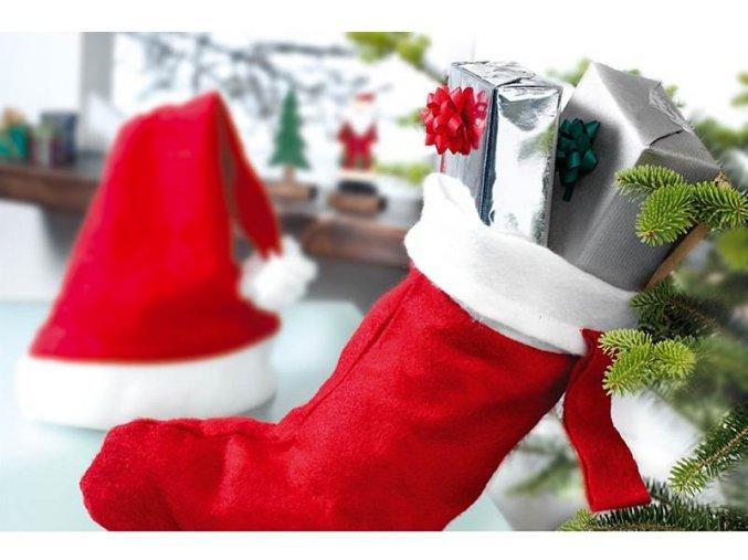 vánoční punčocha na dárky sladkosti mikuláš čerbvená santova ponožka na krb skladem online eshop čr brno 1175016 CX1013 05 1