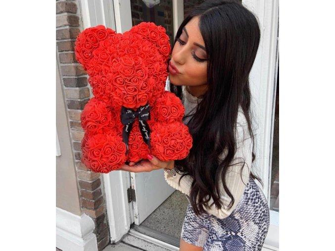 teddy rose bear medvidek z ruzi diy vyrob si sam medvidek medved ruze darek laska