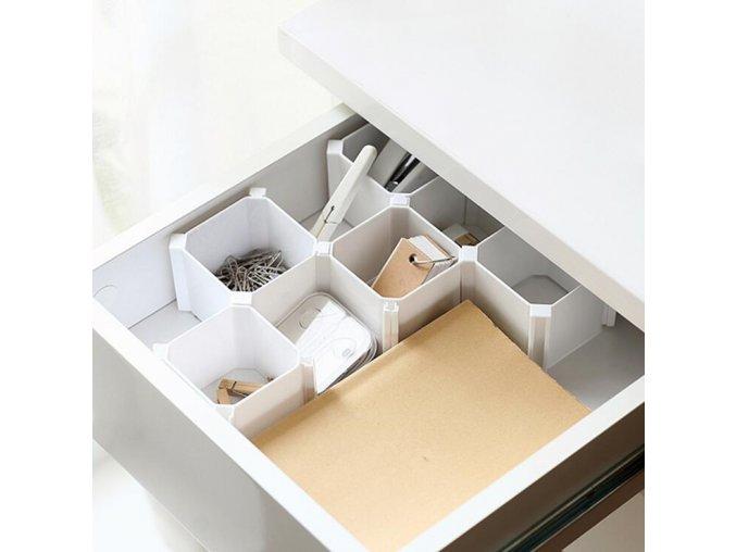 6 Pcs Square Set Home Storage Organization Storage Drawers Underwear Socks Tool Organizer Sorting Box Honeycomb (1)