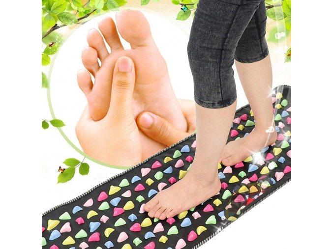 akupresurní podložka s kamínky masáž nohou celého tela masaz masazni podlozka akupresura