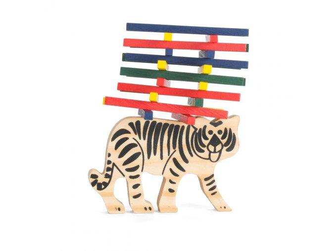 tricky tiger balanční hra trpělivost pro děti dárek na vánoce k narozeninám pro 4 hráče od 3 let dřevěná hračka hra vaše nebe vašenebe skladem eshop1000x1000