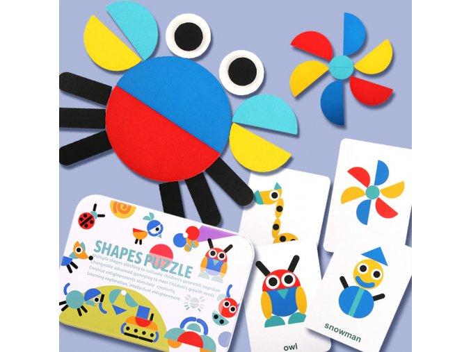 dřevěné puzzle dřevěná skládačka montessorri montesori montessori madam rozvíjecí vzdělávací hra pomůcka do školky do školy hra hračka dárek od babičky na vánoce k narozeninam pro děti pro vnoučata drevarium222
