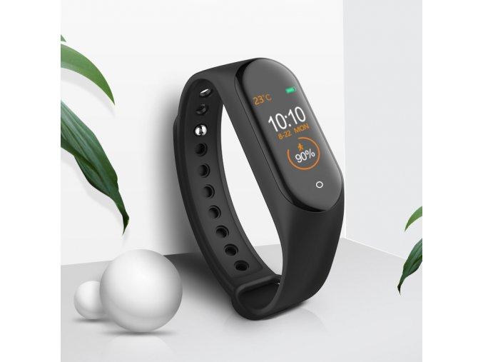 fitness chytrý náramek hodinky s mobilem propojení s aplikaci v češtině skladem darek pro sportovce muže ženy k narozeninám vánocům bracelet1 brace