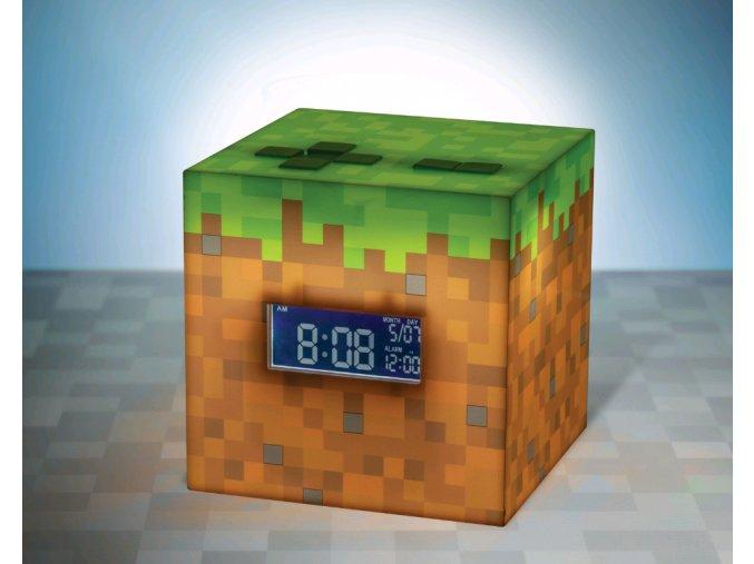 budík minecraft dárek pro hráče herní fanoušky minekraft pro kluky holky muže pro partnera na vánoce k vánocům k narozeninám minecraft alarm clock bdp pp6733mcf (3)