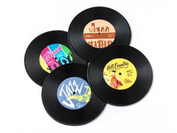 Vinylové podtácky 4 ks