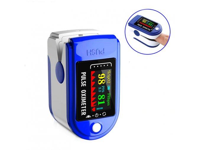 oxymetr hladina procento kysliku v krvi na prst měřič měření doma kyslík sport zdraví pro babičku dědečka oximeter1