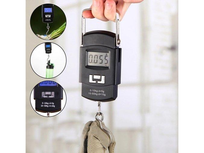 vaha portable electronic scale zavesna vaha na kufry zavazadla cestovni na cestovani do 50 kg mala