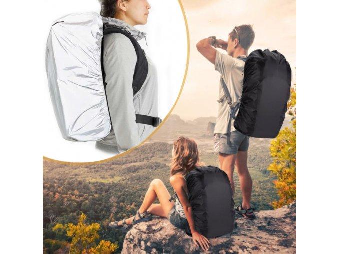 obal na batoh vodě voděodolný odolný na krosnu cerny černý brno stribrny skladem eshop cr cz levne waterproof back pack backpack cover