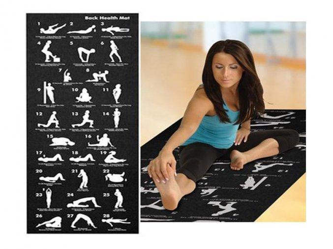 Podložka na jógu s ukázkami pozic