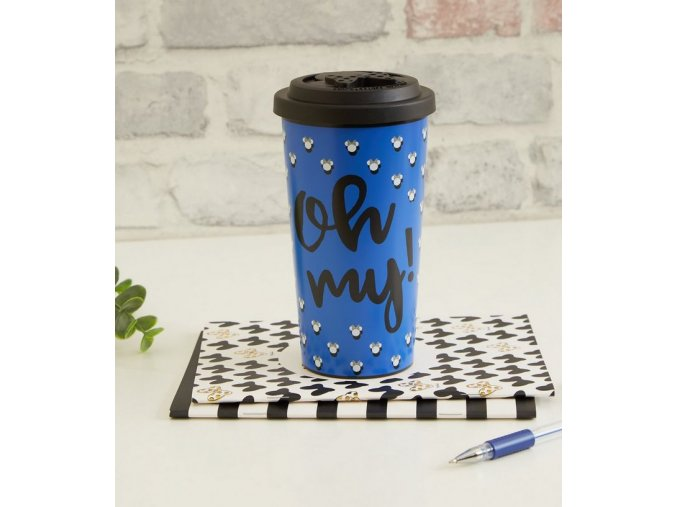blue minnie mouse coffee travel mug