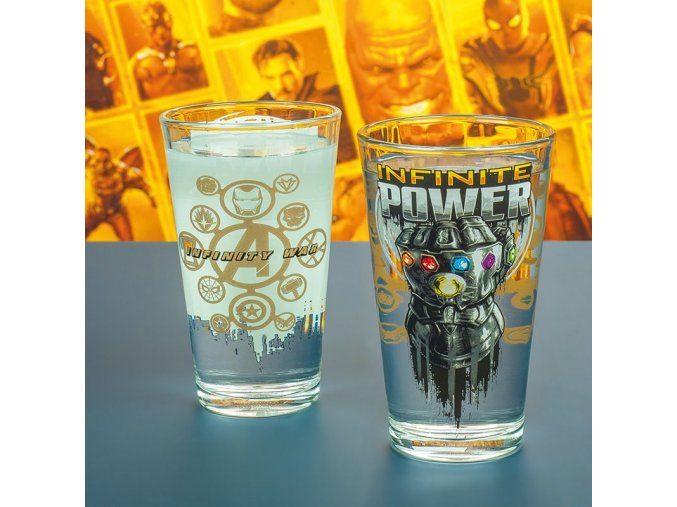PP4387MVIW Marvel Avengers Infinity War Glass Lifestyle Low Res