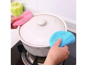 antibakteriální silikonová houbička na mytí nádobí na umývání náčiní znovupoužitelná ekologická šetrná anti bakteriální vaše nebe vašenebe eshop brno skladem