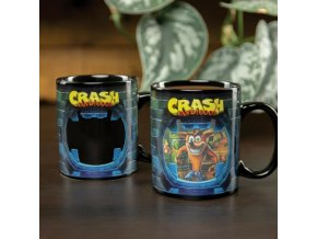 paladone mug crash bandicoot  hra playstation xbox game menici hrnek hrnek reagujici na teplo darek