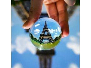 skleněná fotokoule skleněná koule na focení fotografie kouli přes obráceně skladem brno eshop vaše vašenebe nebe levně