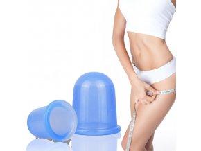 baňky proti celulutidě na celulitidu cellu cup masážní banky masáž nohou stehen pomerančová kůže
