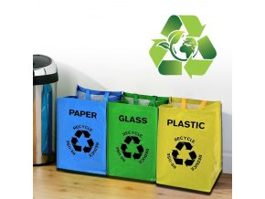 tasky na trideni odpadu trideny odpad eko ekologie papir plasty sklo kontejner priroda zivotni prostredi tridime