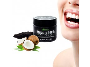 uhli na beleni zubu kokosove miracle teeth levne prasek na vybileni cisteni zubu cerny miracleteeth miracle teeth whitener white bambusove uhli na cisteni zubu svezi dech bile zuby prasek uhli