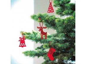 vánoční ozdoby plstěné z plsti stromeček hvězdičky odzoby na stromeček na strom stromek drobný a levný dárek 1080948 CX1335 05 1