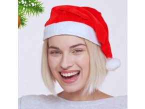 vánoční čepice santova santovská červená s bambulí dámská pánská dětská univerzální srandovní skladem ihned online eshop čr čepice 5