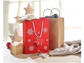 vánoční dárková taška červená s hvězdičkami dárková taška taštička na dárek vánoční k vánocům online brno skladem 1081068 CX1414 05 1