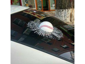Car Creative 3D Baseball Hit Window Car Sticker 1
