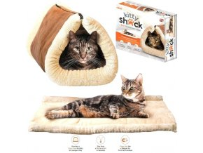 terrier tunnel dog bed uk kitty shack 2 in 1 self heating pet mat cat s