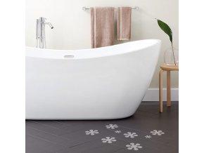protiskluzove nalepky do vany ANTI - SLIP BATH STICKERS proti skluzu sklouznuti kyticky do vany sprchy levne zdarma zadarmo brno
