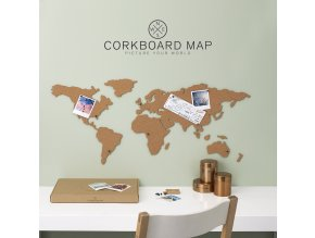 CORKBOARD MAP korkova mapa sveta dekorace nastenka kancelar darek