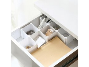 6 Pcs Square Set Home Storage Organization Storage Drawers Underwear Socks Tool Organizer Sorting Box Honeycomb (1)