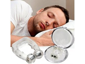 Anti Snoring Acusnore Snore Free Magnetic Nose Clip Case Apnea Sleep Aid Guard Easy Sleep Nose