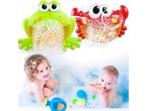 bublinovač bublinkovač vyrobnik bublin bublinky krab žába žabička do vany pro děti hračka zábava brno skladem levně