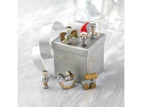 dřevěné ozdoby vánoční figurky na stromeček na větvičku dřevěné ozdoby na vánoce 1080970 CX1349 99 1