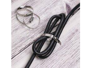 stribrne elegantni pekne hezke do domacnosti utazeni kabelu barevne  stahovaci pasky kovove 20 cm