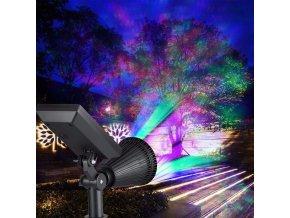 solarni barevne led svetlo osvetleni venkovni vodeodolne ip44 ip55 barevne svetylko led lampa zahradni