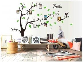 nalepka samolepka strom zivota s ramecky na fotky fotoramecky na stenu na zed samolepka na zed velka strom tapeta samolepici rodokmen