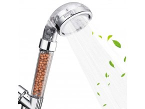 nastavitelna sprcha s cisticimi kameny sprchova hlavice lecive kameny mifan stones alkaline prirodni kameny drt