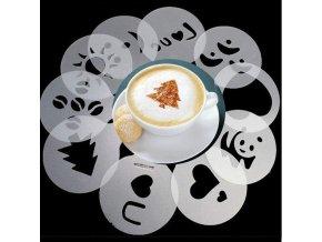 sablony na zdobeni kavy kafe obrazky na kave latte capuccino zamilovane motivy